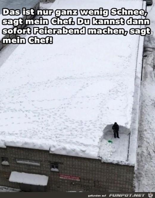 Nur ein bisschen Schnee