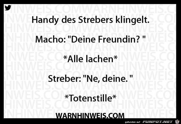 Handy des Strebers
