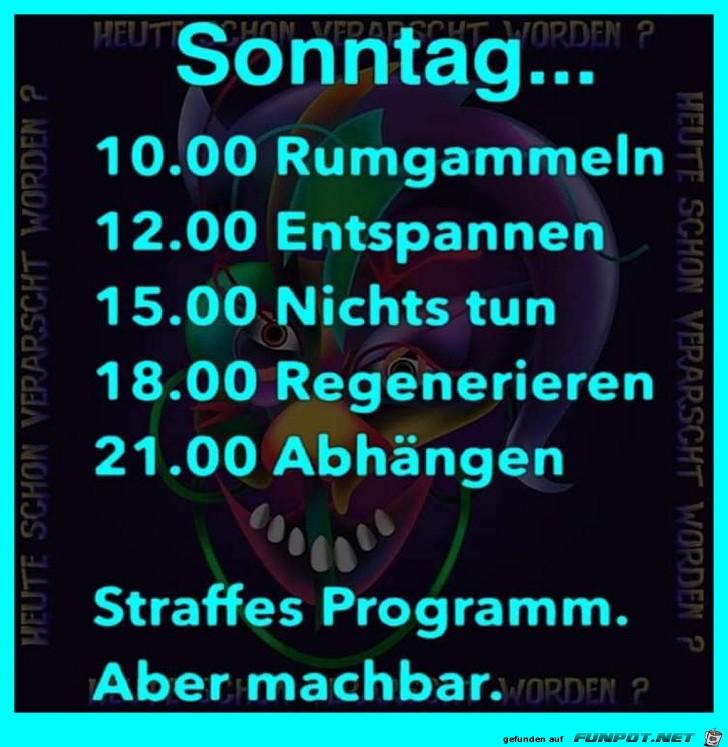 Sonntagsprogramm