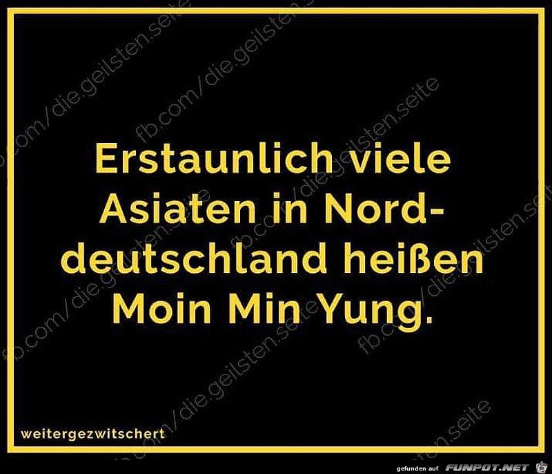 Asiaten in Norddeutschland