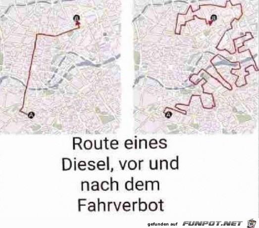 Diesel-Route
