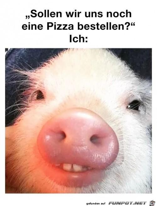 Sollen wir noch Pizza bestellen?