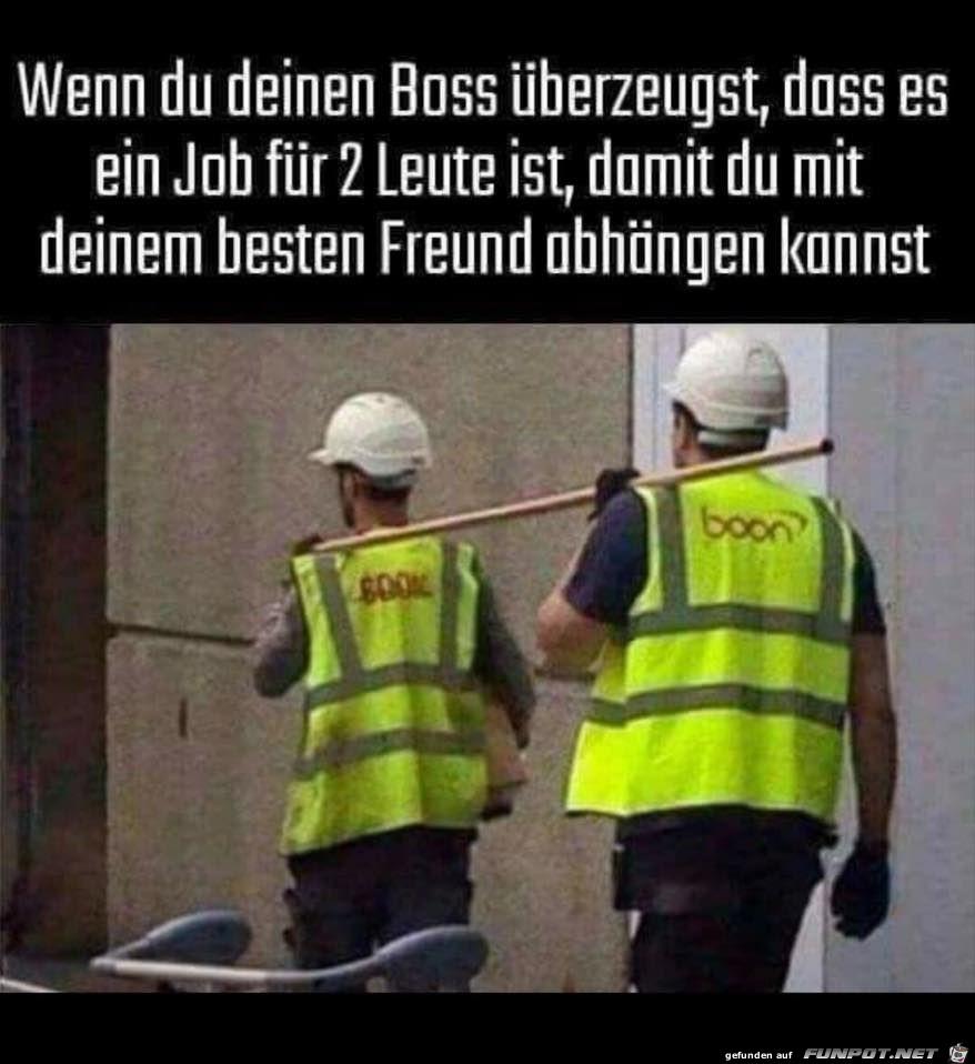 Job für 2 Leute