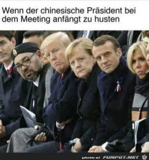 Der chinesische Präsident hustet