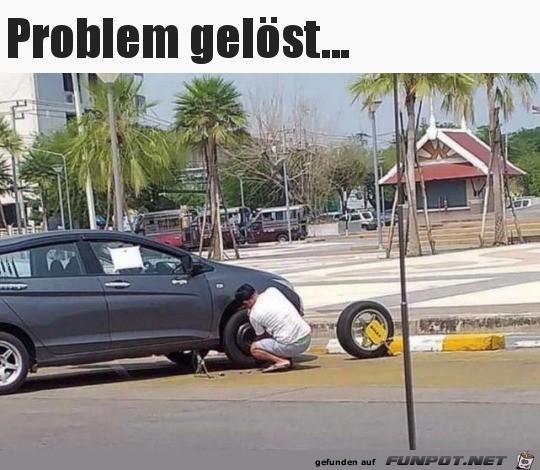 Problem mit der Parkkralle gelöst