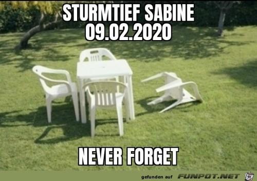 Sturmtief Sabine hinterlässt bleibenden Eindruck
