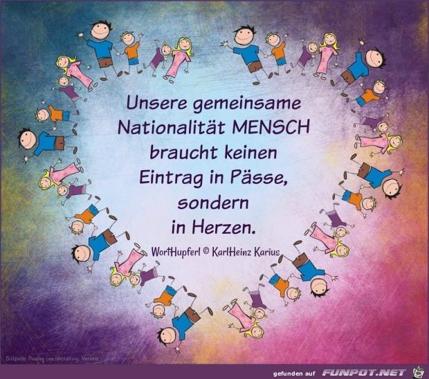 unsere gemeinsame Nationalitaet