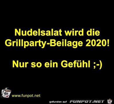 Nudelsalat wird Grillpartybeilage 2020