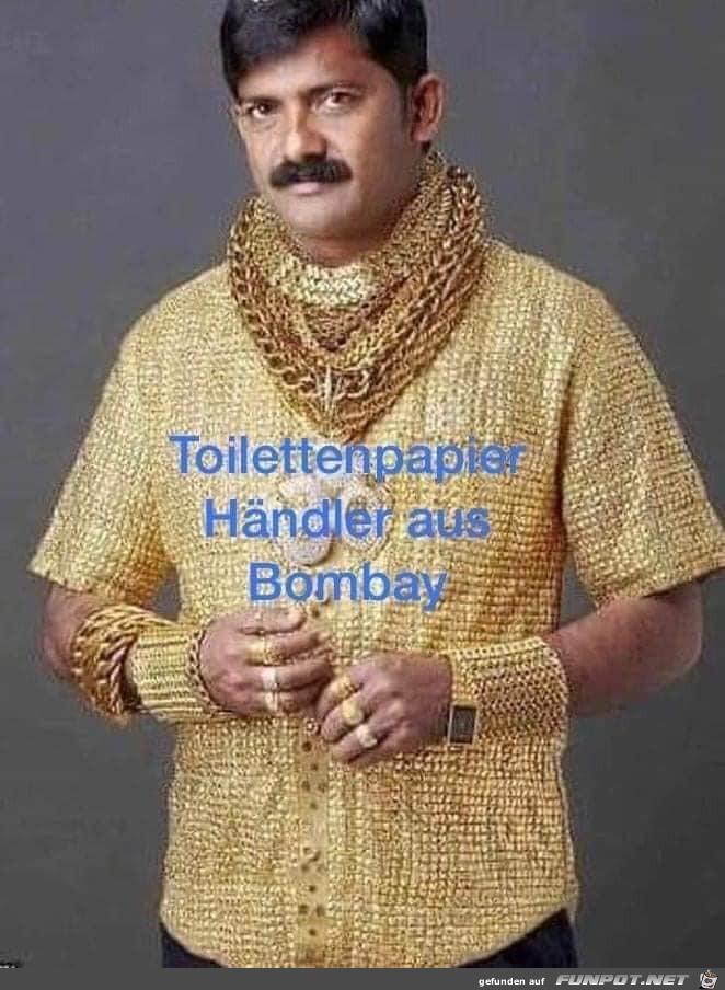 Toilettenpapierhändler aus Bombay