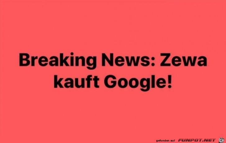 Zewa kauft Google