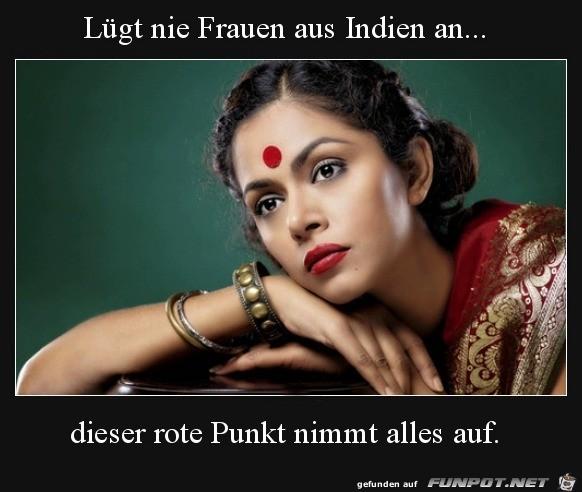 niemals Frauen aus Indien anlügen