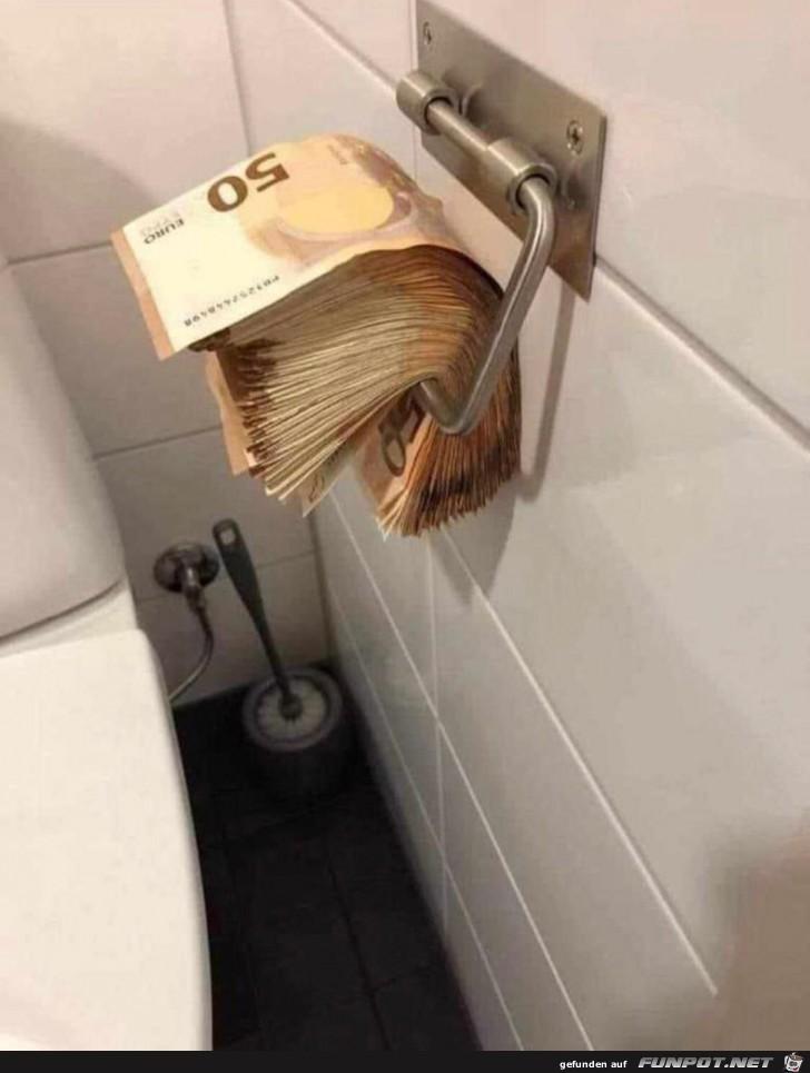 Klopapier der Reichen