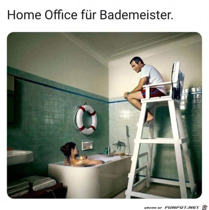 Home Office für Bademeister