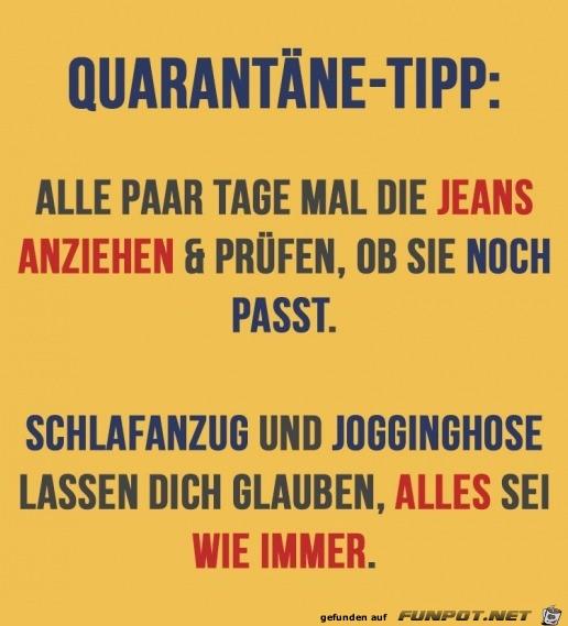 Super Quarantäne-Tipp