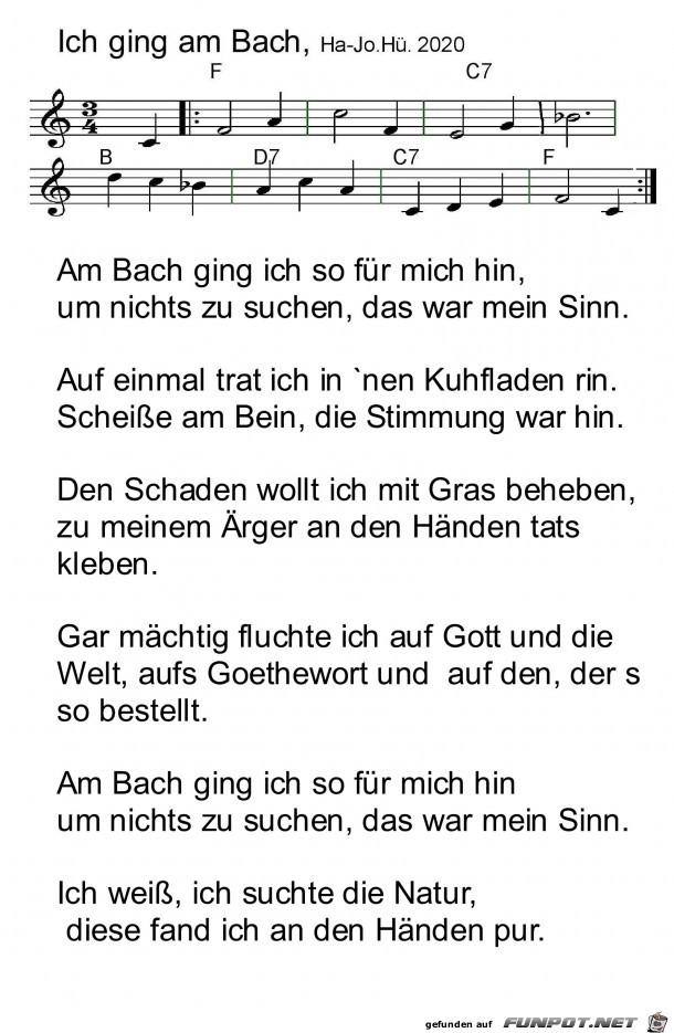 Ich ging am Bach Humoreske