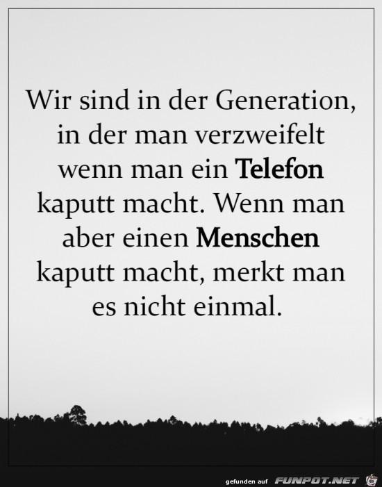 Wir sind eine seltsame Generation
