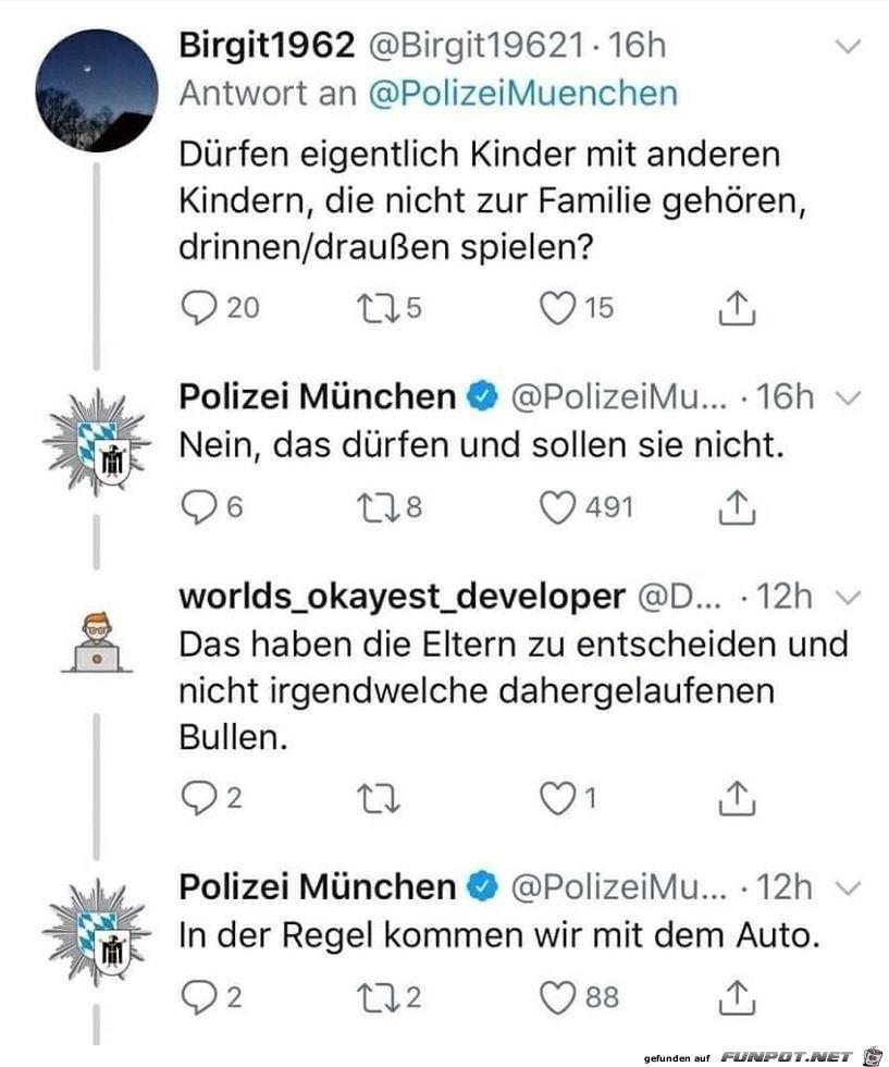 Frage an die Polizei