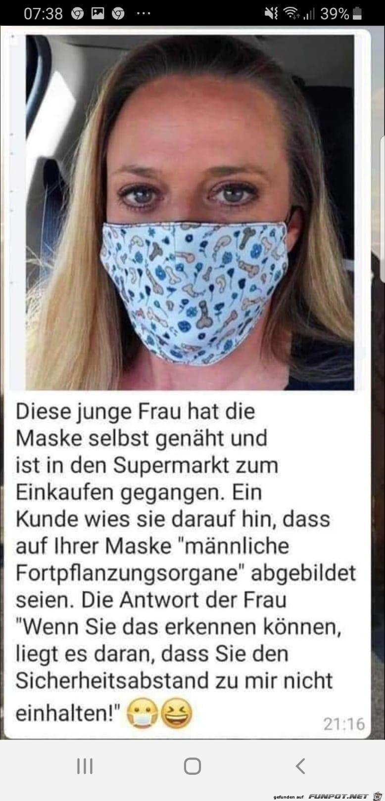 Sehr spezielle Maske