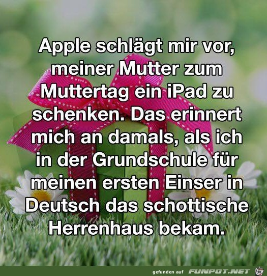 Ein iPad zum Muttertag
