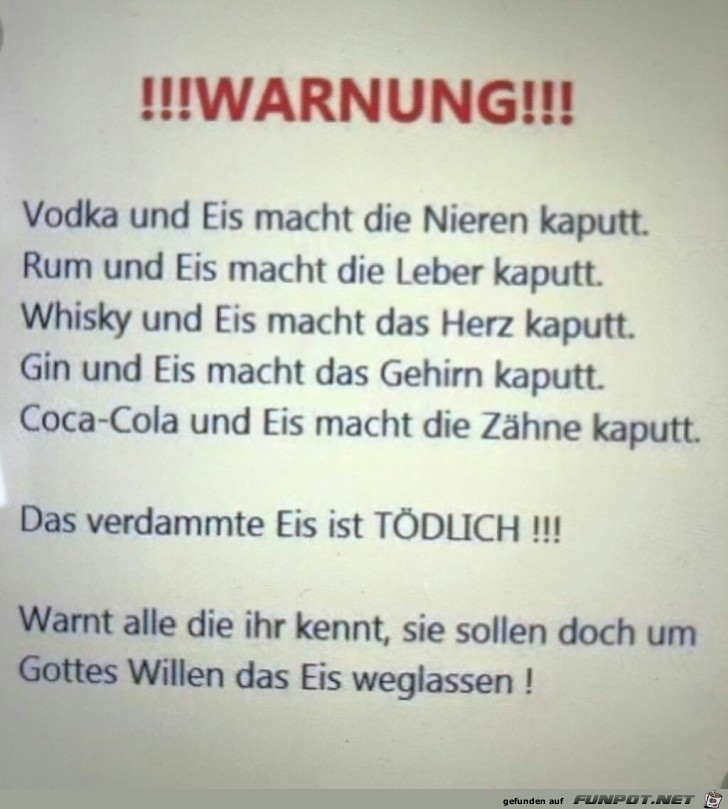 !!! Warnung !!!