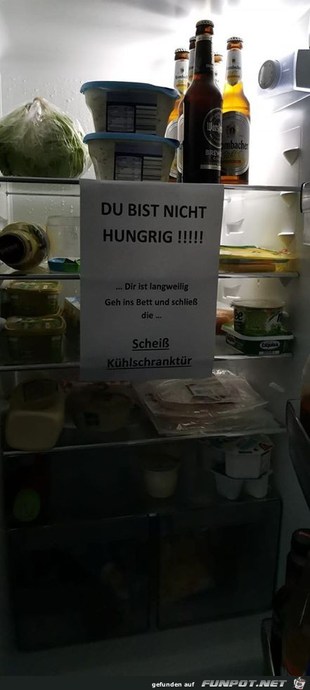 Wenn der Hunger nachts kommt