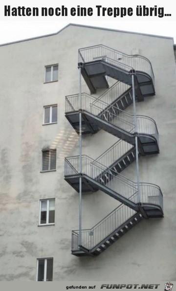 Treppe war übrig