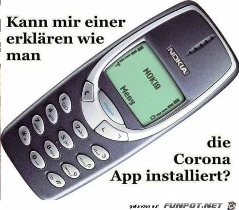 Corona-App auf alten Nokia-Knochen