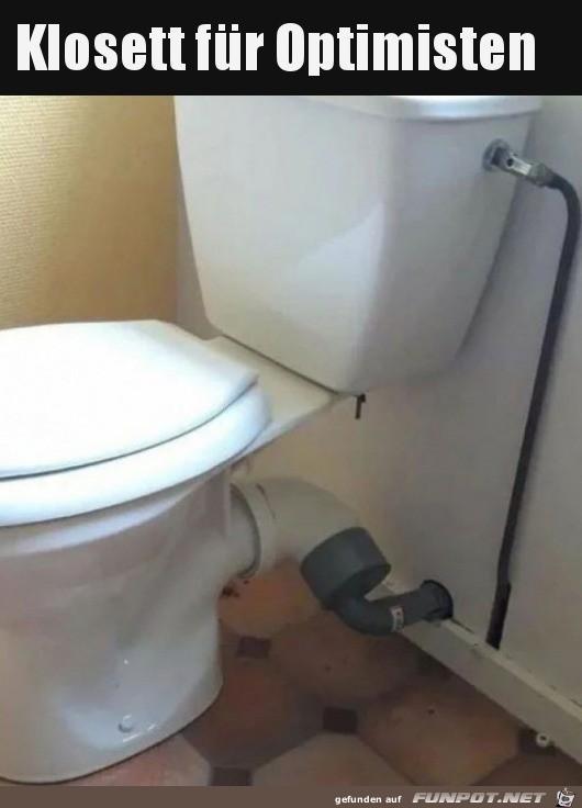 Toilette für Optimisten