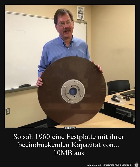 Festplatte von 1960