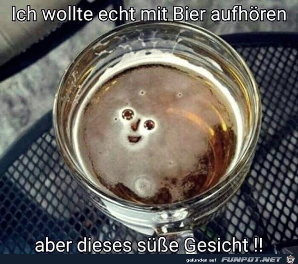 Wollte mit dem Bier aufhören