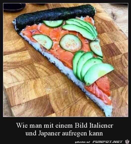 Japanische Pizza