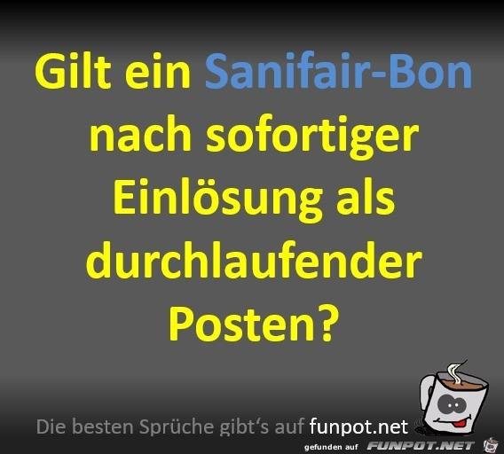 Der Sanifair-Bon