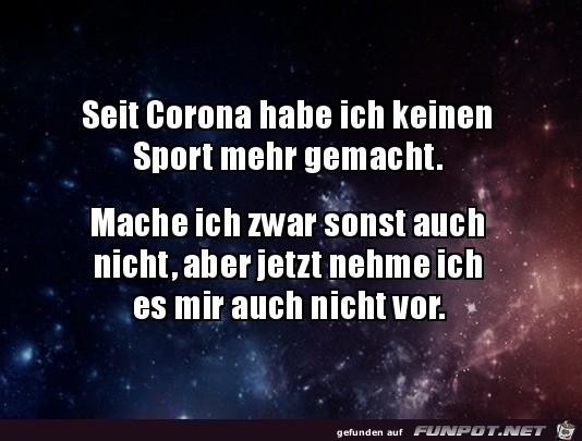 Seit Corona keinen Sport mehr gemacht
