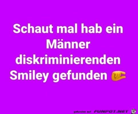 Ein Männer diskriminierender Smiley