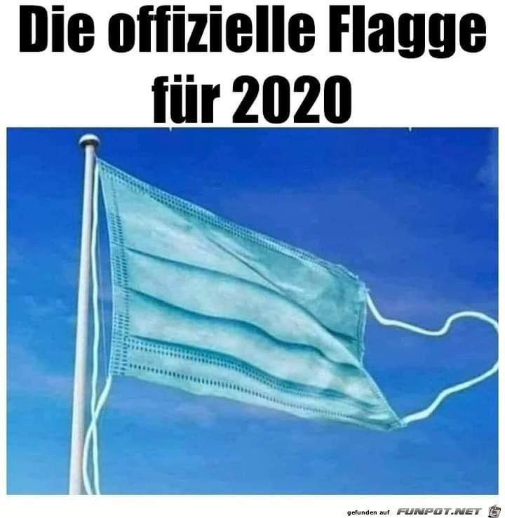 die offizielle Flagge für 2020