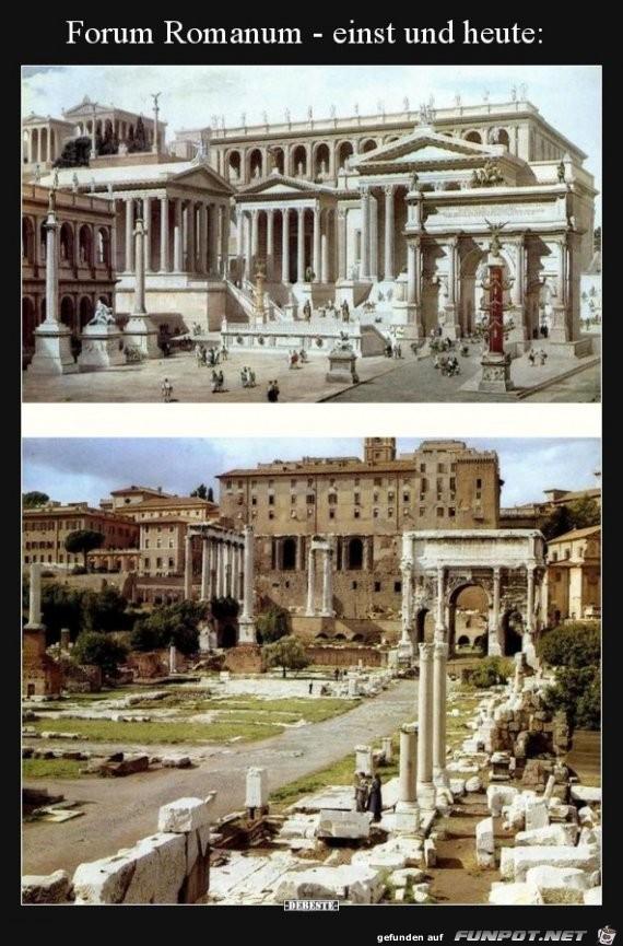 Forum Romanum Einst und Heute