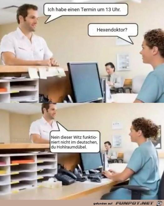 Dieser Witz funktioniert nicht im Deutschen