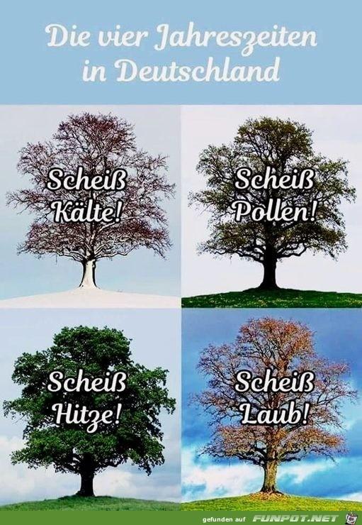 die Jahreszeiten in Deutschland