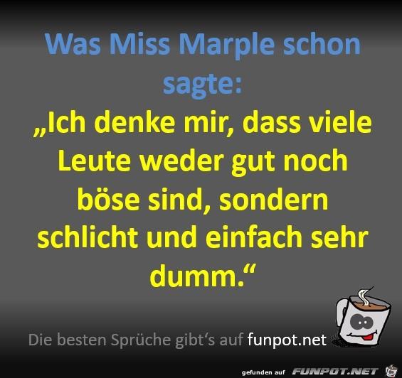 Was Miss Marple schon sagte