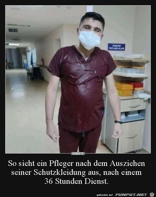 So sieht ein Pfleger aus
