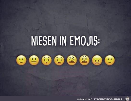 Niesen in Emojis