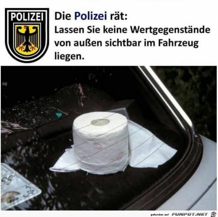die Polizei rät: