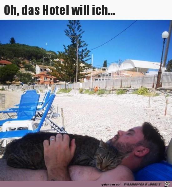 Das Hotel will ich