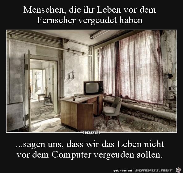 Leben vor dem Fernseher