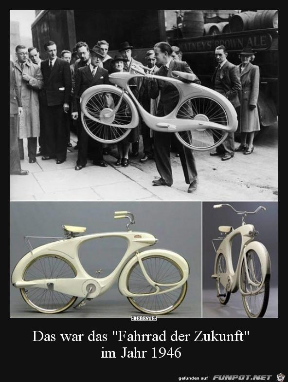 Das Fahrrad der Zukunft im Jahr 1946