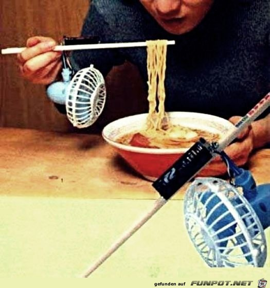 Automatisch das Essen auf Temperatur pusten