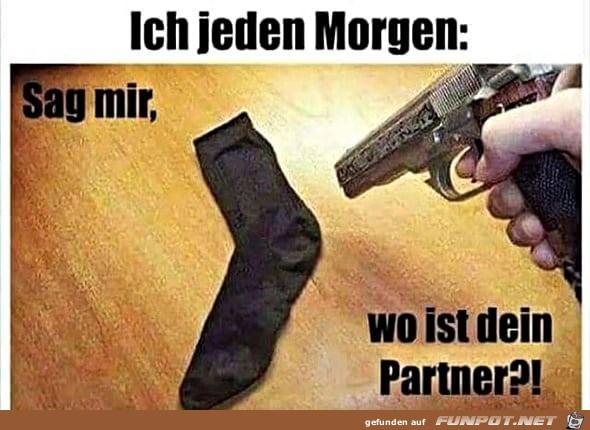 Socken-Partner fehlt