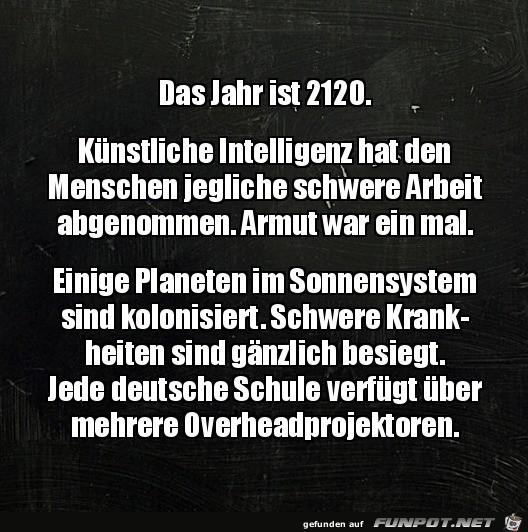 Im Jahr 2120
