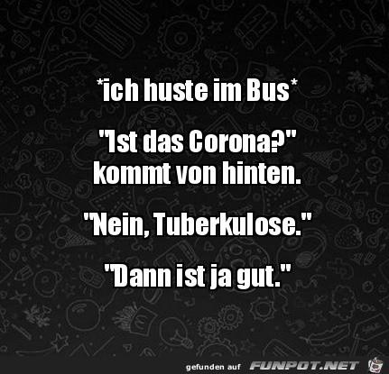Einmal husten im Bus