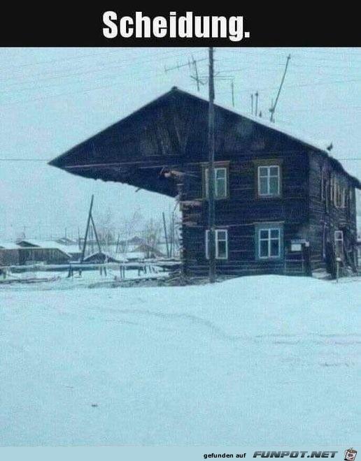 Haus nach der Scheidung